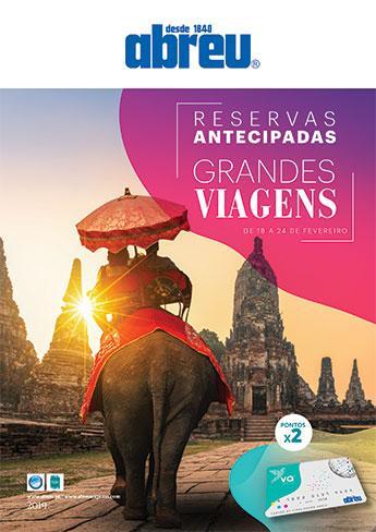 Reservas Antecipadas - Grandes Viagens 2019