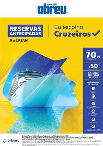 Reservas Antecipadas - Cruzeiros