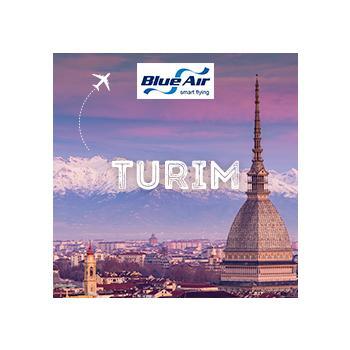 Vá a Turim com a Blue Air